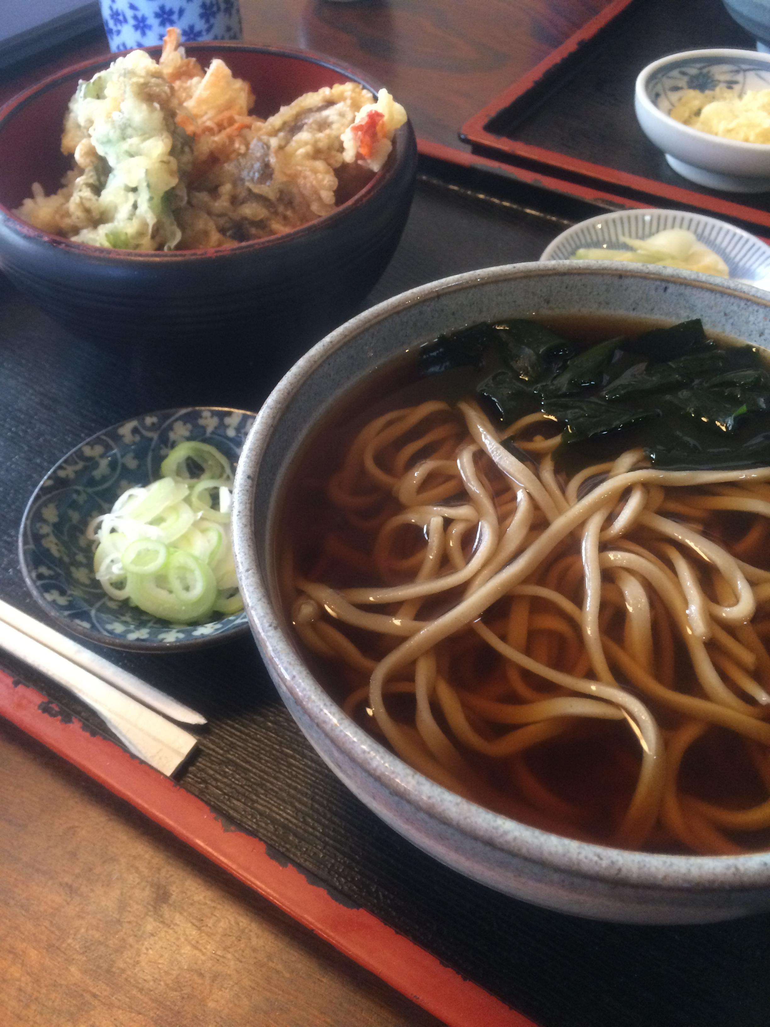 茨城県庁 梅の茶屋 そば セット